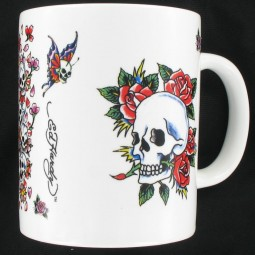 Ed Hardy Tasse Death and Roses