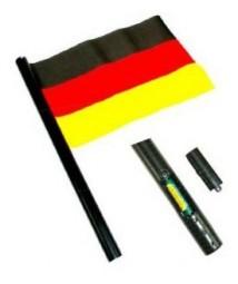Deutschland Audio-Fahne