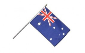 Australien Flagge, mit Holzstab (60cm), 30x45cm