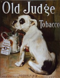 Blechschild Old Judge Tobacco