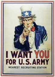 Blechschild Uncle Sam I want you for U.S.Army