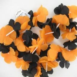 Blumenkette orange/schwarz