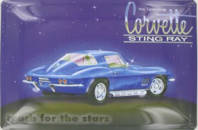 Blechschild Corvette Sting Ray