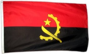 Angola Fahne, 90 x 150 cm