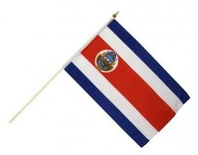Costa Rica Fahne mit Holzstab, 30 x 45 cm