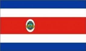Costa Rica Fahne, 90 x 150 cm