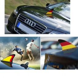Haiflosse Deutschland fürs Auto, 19 x 14 cm