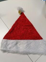 Nikolaus-Plüschmütze mit Glöckchen