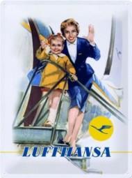 Lufthansa Blechschild, 30 x 40 cm