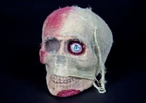 Mumienschädel, 19 cm