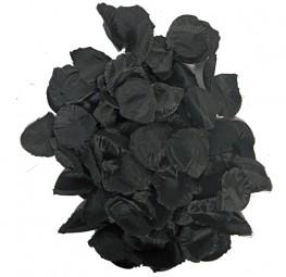 Rosenblätter schwarz, 144 Stück