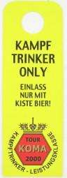 Türschild Kampf Trinker Only