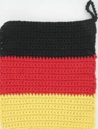 Topflappen in Deutschlandfarben, 17 x 19 cm