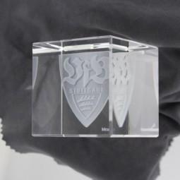 VfB-3D Kristallwürfel, 6x6cm